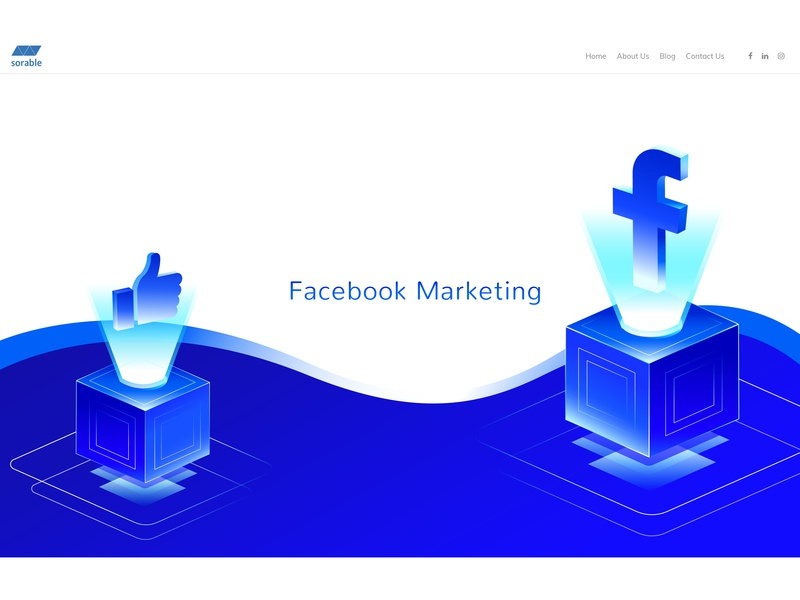 Sorable - Facebook Marketing facebook illustration digital marketing agency facebook banner digital marketing facebook ads facebook ad