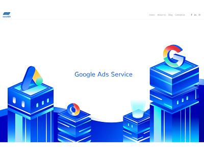 Google Ads Service digital marketing company google ad banner google adwords google ads illustration digital marketing agency digital marketing