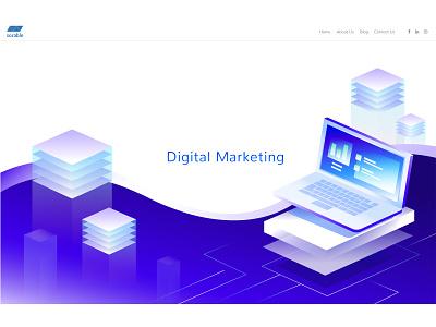 Digital Marketing branding vector ui digital marketing company illustration digital marketing agency digital marketing
