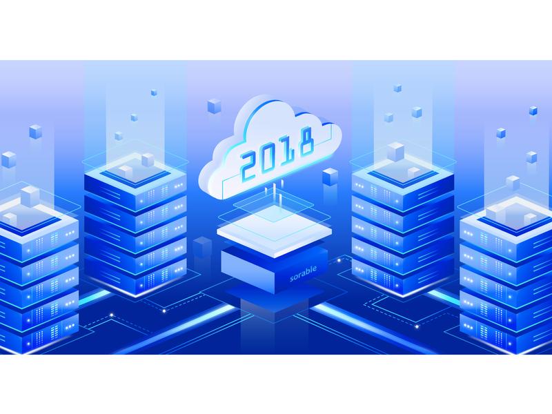 Software development crm illustration server digital software development software company