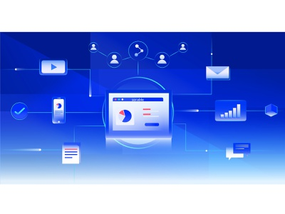 Digital platform design digital crm crm portal platform digital marketing illustration