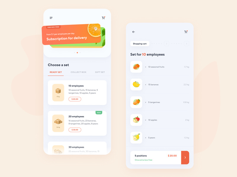 FruitPoint - Fruit Delivery Subscription | App Design
