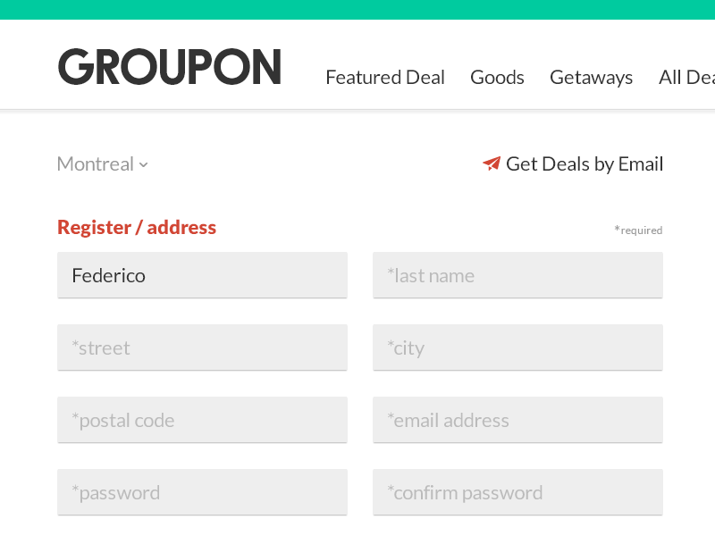 Groupon register shot