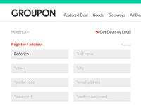 GROUPON register re-design