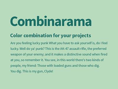 Combinarama Text 1B6F66 Background B8DBBE design simple background color colour combination inspiration combinarama