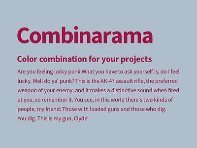 Combinarama Text 9F1444 Background AFBECB design simple background color colour combination inspiration combinarama