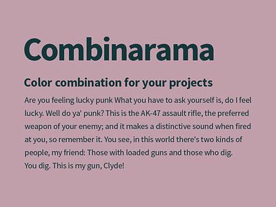 Combinarama Text 13373A Background C19FAA combinarama inspiration combination colour color background simple design