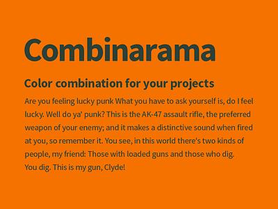 Combinarama Text 2B4038 Background F57200 combinarama inspiration combination colour color background simple design
