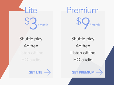 Pricing Table rebound lite premium pricing purchase get buy design shop table price ui