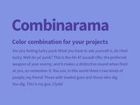 Combinarama Text 4E3E9C Background 8293E3