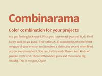 Combinarama Text CA6144 Background E9E6C9