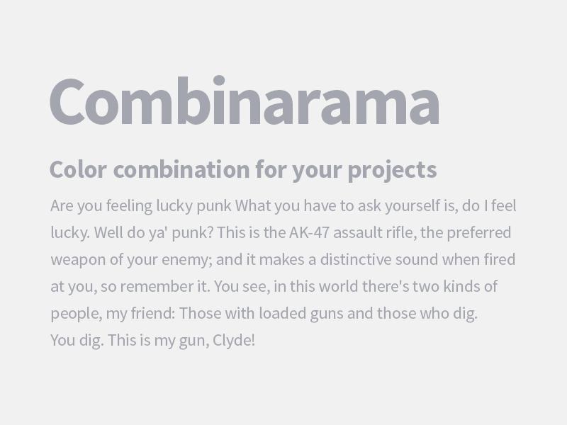Combinarama Text A4A6AF Background F1F1F1 combinarama inspiration combination colour color background simple design
