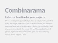 Combinarama Text A4A6AF Background F1F1F1