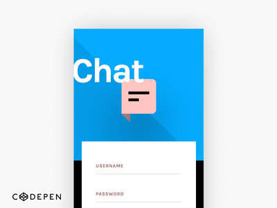 Invision Chat UI Screen 1-1 (codepen) share free code kit invision html css codepen chat ui