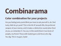 Combinarama Text 543A3A Background E1EEFF