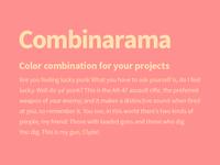 Combinarama Text FFE1AF Background FF9090