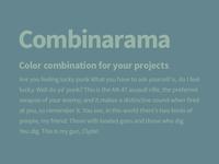 Combinarama Text 98B4A6 Background 64868E
