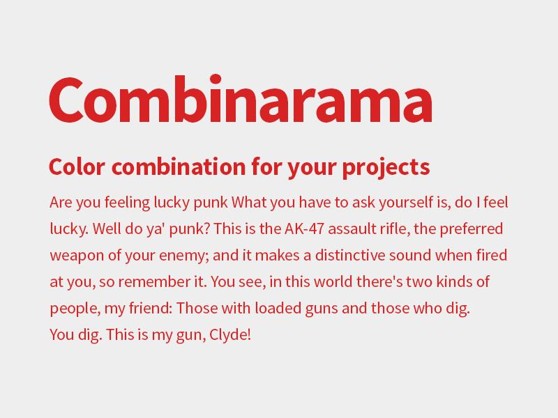 Combinarama Text D72323 Background EEEEEE combinarama inspiration combination colour color background simple design