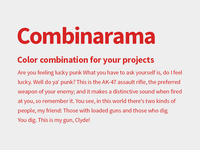 Combinarama Text D72323 Background EEEEEE