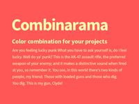 Combinarama Text FFFBAF Background Ff5656