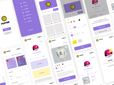 Puffer design icon logo branding adobe xd designs ui  ux uidesign ux ui uiux design