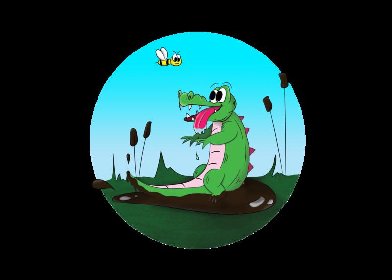 stupid crocodile illustration art illustrator photoshop illustration sketch