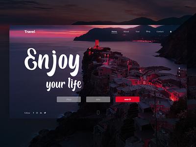 Enjoy your life uxdesign uiux design uidesign ui  ux website design website webdesign ux photoshop ui design