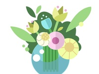 Fleur Illustrator Illustrateur Plantes Vecto