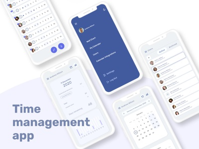 Time management web & mobile application calendar app calendar logo interactiondesign animation interaction management app organization company app management time ux ui web