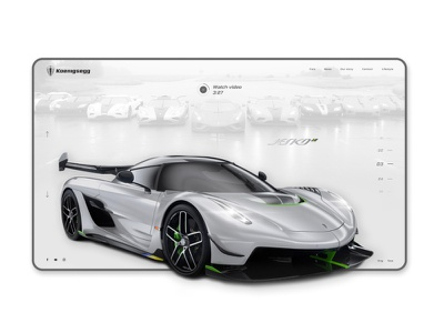 Koenigsegg Website Redesign interactiondesign agera regera speed jesko mockup interaction site animation website concept web historical sportcar car koenigsegg ux ui