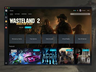 Steam desktop app steam ui game launcher desktop app video games