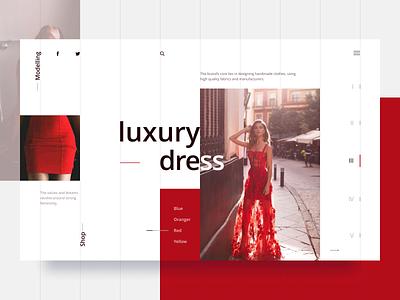 Fashion Web UI minimal luxury dress fashion website web design