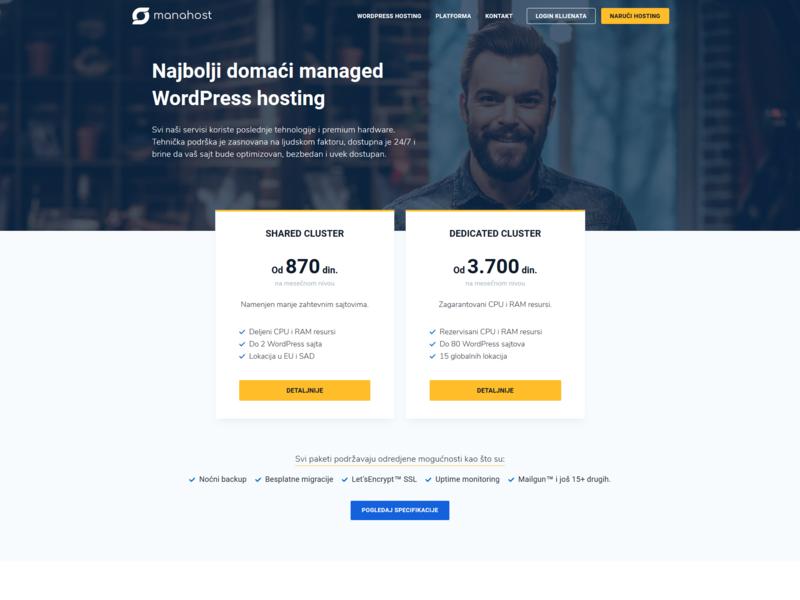 MANAHOST - Managed WordPress Hosting in Serbia web hosting webdesign web design website wordpress hosting