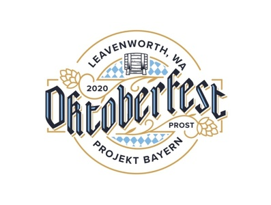 Oktoberfest Reject gothic blackletter keg branding brand hops beer reject logodesign logo