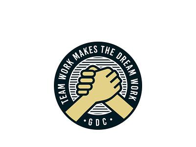 Teamwork illustration logodesign logo spokane teamwork team hands patch badge seal emblem