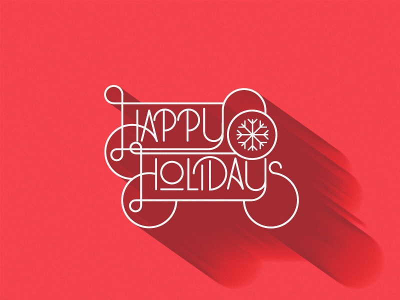 Happy Holidaze happy holidays holidays winter greeting christmas type typography script custom