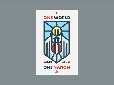 091116 shield united states america thick lines monoline eagle twin towers one world trade nyc 911