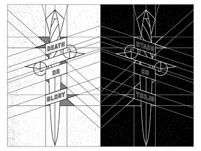 #BBYKNVS spokane zine bbknvs baby knives knives knife monoline lines texture art abstract dagger