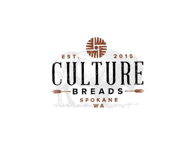 Culture Breads millstone bread identity brand branding logomark logo