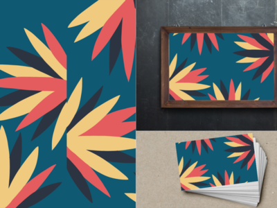 Pattern with backdrops with background
