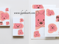 Set of brand design templates for kids who love animals