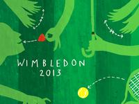 Re-working Wimbledon poster for Waitrose Weekend publication