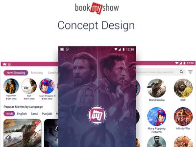 BookMyShow Concept Design