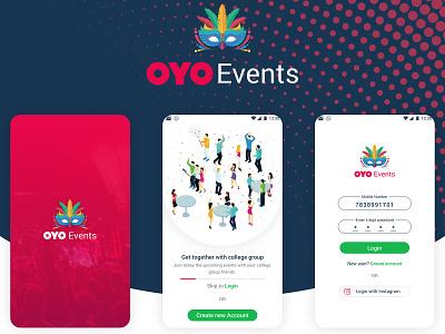 OYO Events UI UX Mobile App android app design creative  design interaction design marvelapp sketchapp ux design ui design ui ux user booking app events app oyo