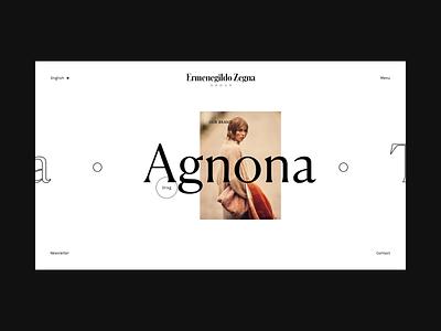 Zegna — 02 ux ui web design minimal typography concept design
