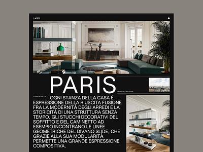 Lago — 01 website ux web ui design typography minimal concept design