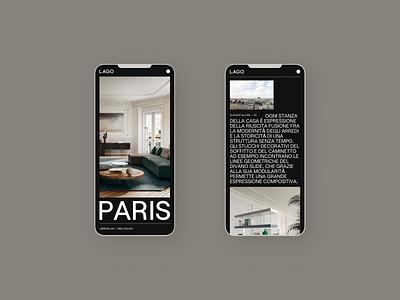Lago — 02 mobile ui mobile design website ux ui typography minimal design concept design
