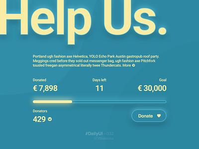 DailyUI–032 soft ui ui crowdfunding campaign dailyui 032 dailyui