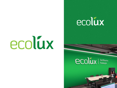 Ecolux Logo eco farming ecofriendly ecology eco adobe photoshop adobe xd logo design logo