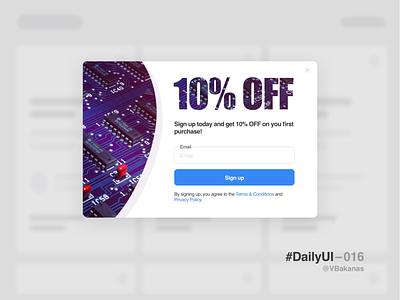 DailyUI–016 sketchapp modal email web popup ux ui dailyui